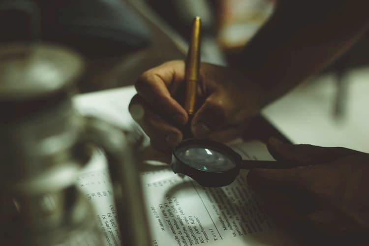 examining a 10-K filing